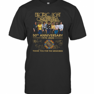 Electric Light Orchestra 50Th Anniversary 1970 2020 Signatures Thank You For The Memories T-Shirt Classic Men's T-shirt
