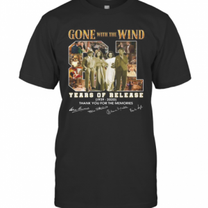 Gone With The Wind 81 Years Of Release 1939 2020 Thank You For The Memories Signatures T-Shirt Classic Men's T-shirt