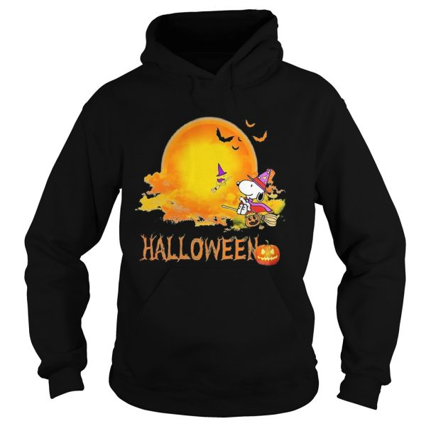 Halloween snoopy and woodstock witch moon  Hoodie