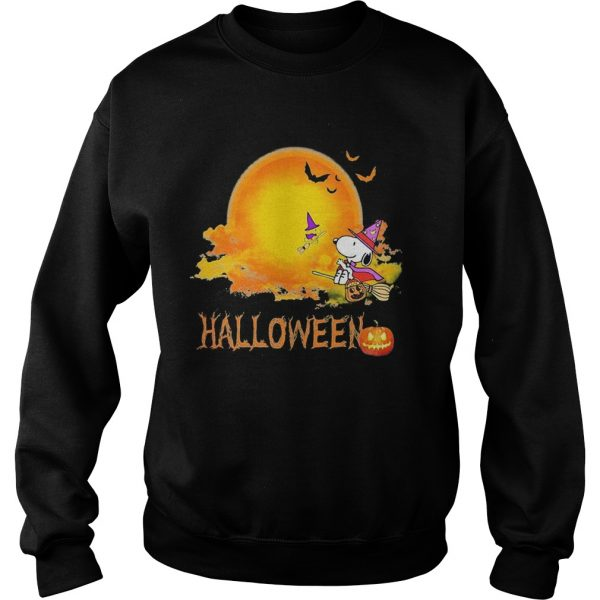 Halloween snoopy and woodstock witch moon  Sweatshirt
