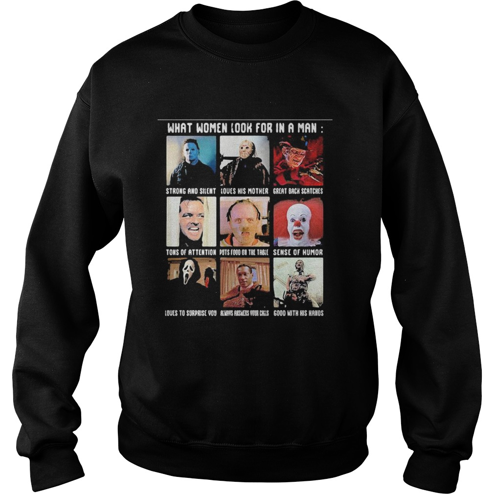 Halloween what women look for in a man strong and silent love his mother great black fathers Sweatshirt