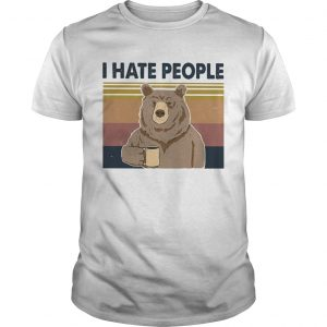 I Hate People Bear Cup Vintage Retro  Unisex