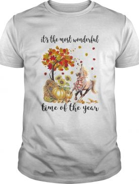 Its The Most Wonderful Time Of The Year Horse Pumpkin Autumn Halloween shirt
