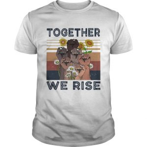 Juneteenth Day Together We Rise Sunflowers Black Lives Matter Vintage Retro  Unisex