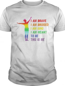 Megan Rapinoe I Am Brave Bruised Who Meant To Be Lgbt Flag shirt