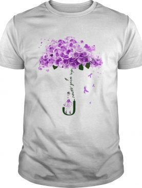 Never Givle Up Purple Rose Girl shirt
