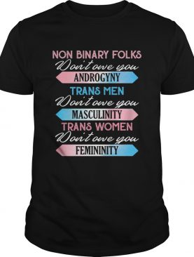 Non binary folks dont own you androgyny trans men dont one you masculinity trans women dont one