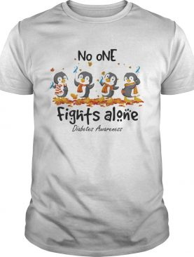 Penguins no one fights alone diabetes awareness shirt