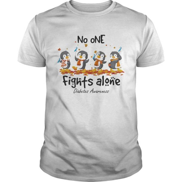 Penguins no one fights alone diabetes awareness  Unisex
