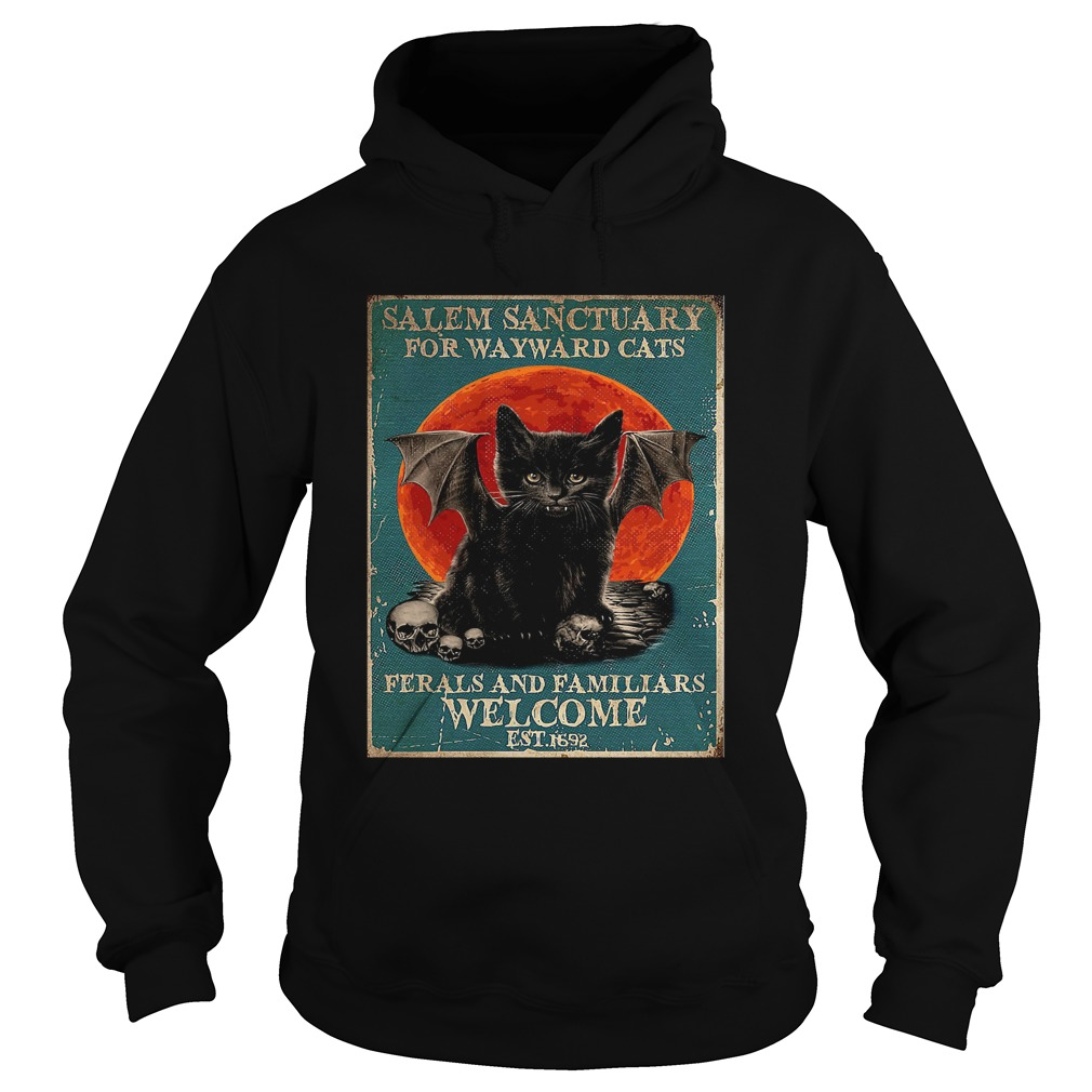 Poster Salem Sanctuary For Wayward Cats Ferals And Familiars Poster Hoodie