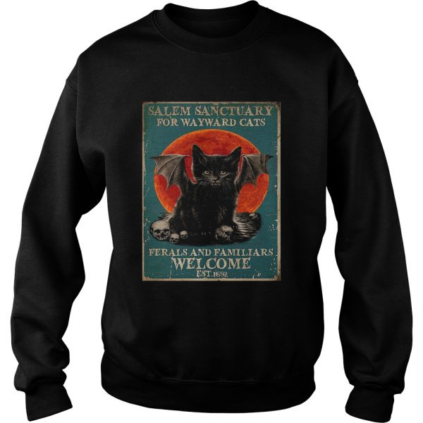 Poster Salem Sanctuary For Wayward Cats Ferals And Familiars Poster  Sweatshirt