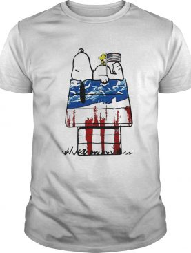 Snoopy and woodstock home american flag independence day shirt