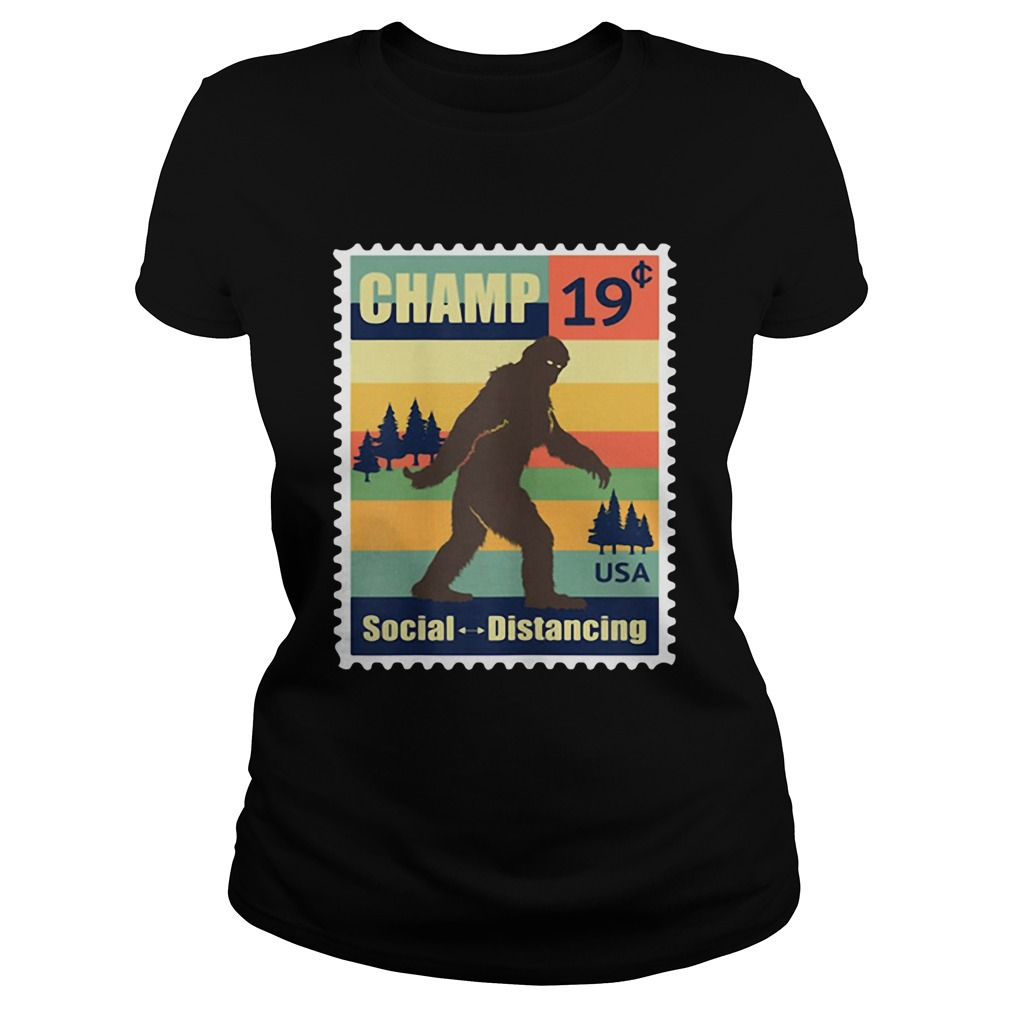 Social Distancing Champ Bigfoot Stamp 2020 Vintage Classic Ladies