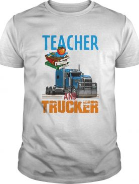 Teacher and trucker book apple shirt