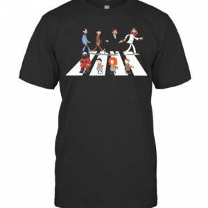 The Beatles And Harry Potter Characters Abbey Road T-Shirt Classic Men's T-shirt