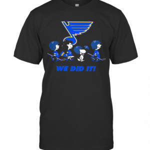 The Peanuts St. Louis Blues Hockey Logo T-Shirt Classic Men's T-shirt