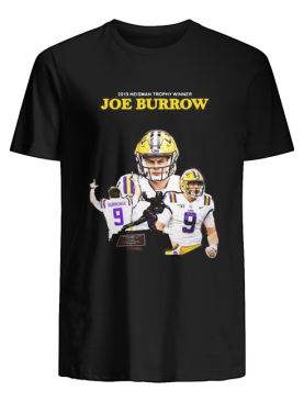 2019 Heisman Trophy Winners Joe Burrow Lsu Tigers Signature T-Shirt