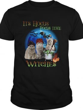 CATS HALLOWEEN ITS HOCUS POCUS TIME WITCHES shirt