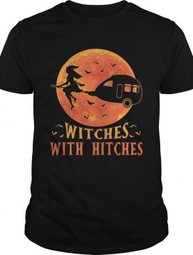 Camping Witches with hitches Halloween sunset shirt