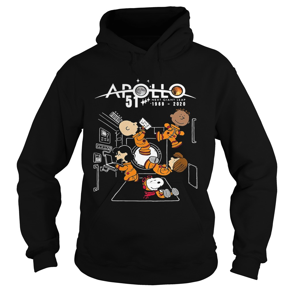 Charlie brown and snoopy apollo 51 next giant leap 1969 2020 Hoodie