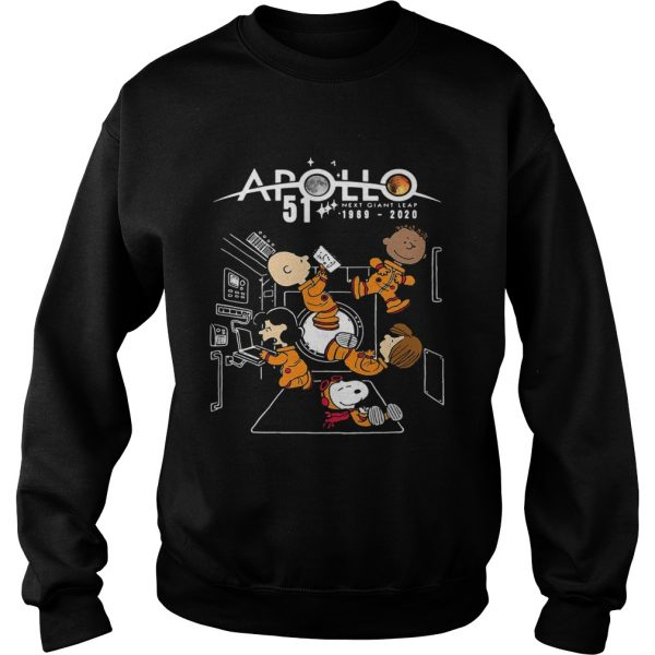 Charlie brown and snoopy apollo 51 next giant leap 1969 2020  Sweatshirt