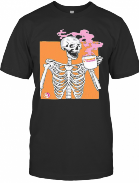Colorful Skeleton Drink Dunkin Donuts Coffee T-Shirt