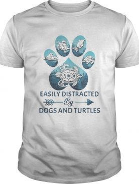 Easily distracted by paw dogs and turtles shirt