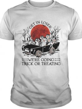 Get In Loser Were Going Trick Or Treating Sunset shirt