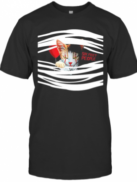 Halloween Pennywise Cat Six Feet People T-Shirt