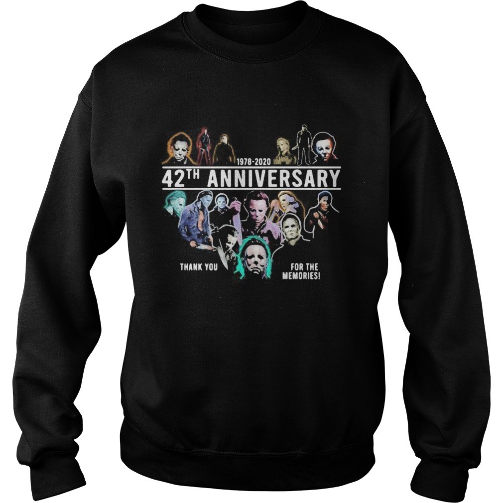 Halloween michael myers 1978 2020 42th anniversary thank you for the memories Sweatshirt