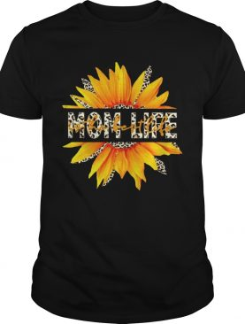 I Can See Mom Life Sunflower Leopard shirt
