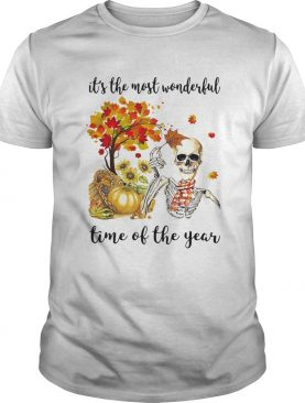 ITS THE MOST WONDERFUL PUMPKIN TIME OF THE YEAR AUTUMN SKULL shirt