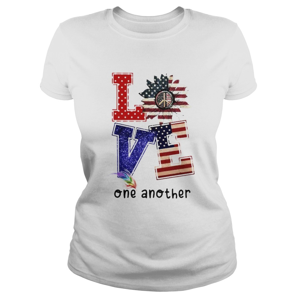 Independence day sunflower love feather one another Classic Ladies