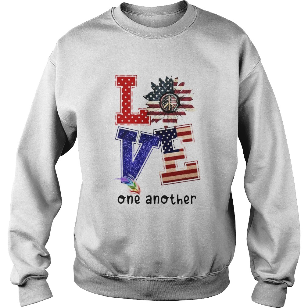 Independence day sunflower love feather one another Sweatshirt