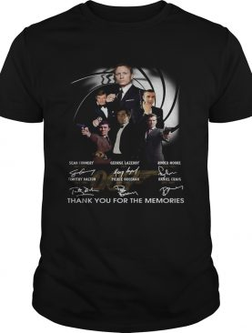 James Bond 007 Character Signatures Thank You For The Memories shirt