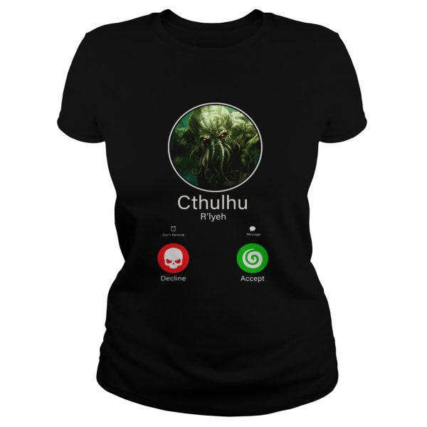 Octopus cthulhu rlyeh calling decline accent  Classic Ladies