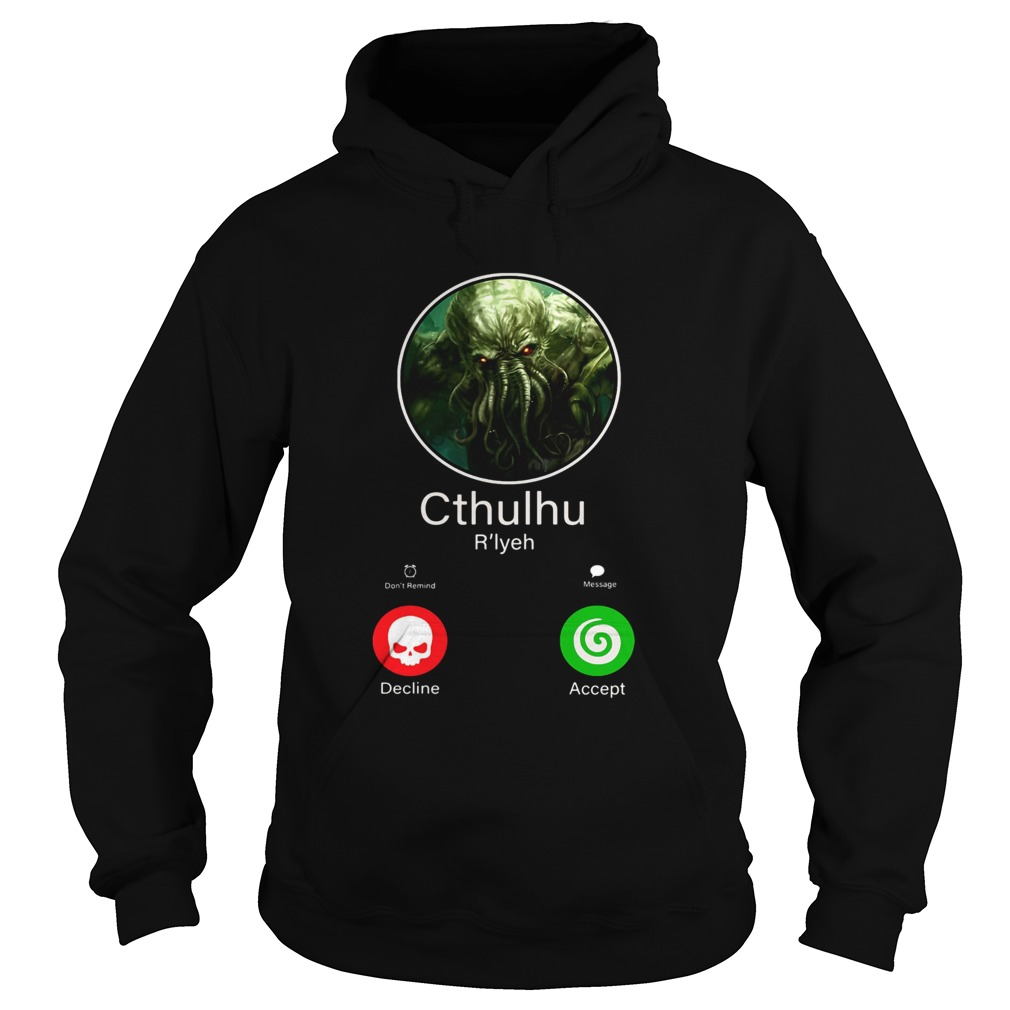 Octopus cthulhu rlyeh calling decline accent Hoodie