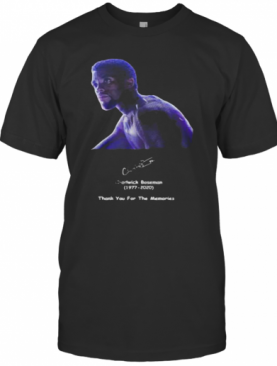 Rip Black Panther Chadwick Boseman 1977 2020 Thank You For The Memories Signature T-Shirt