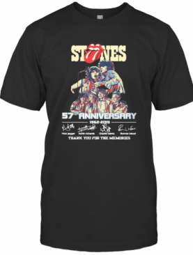 Stones 57Th Anniversary 1962 2019 Thank You For The Memories Signatures T-Shirt