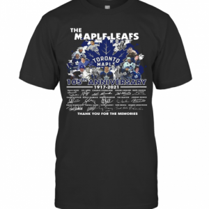 The Maple Leafs Toronto Maple Leafs 105Tha Anniversary 1917 2020 Thank You For The Memories Signatures T-Shirt Classic Men's T-shirt