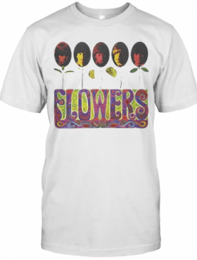 The Rolling Stones Band Members Flowers T-Shirt