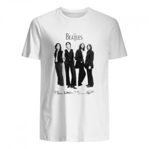 The beatles band members signatures unisex shirt