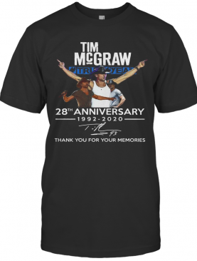 Tim Mcgraw 28Th Anniversary 1992 2020 Thank You For The Memories T-Shirt
