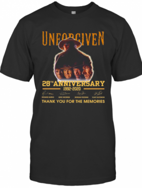 Unforgiven 28Th Anniversary 1992 2020 Thank You For The Memories Signatures T-Shirt