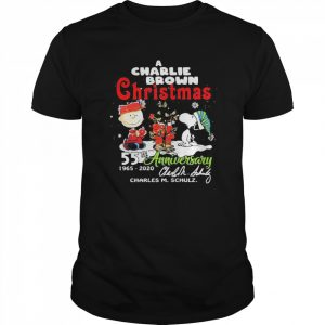 A Charlie Brown Christmas 55th Anniversary 1965-2020 Charles M Schulz Snoopy  Classic Men's T-shirt