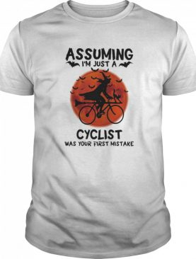 Assuming I'm Just A Cyclist Was Your First Mistake Moon Halloween shirt