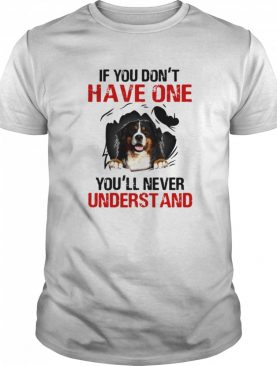 Bermese Mountain If You Don't Have One You'll Never Understand shirt