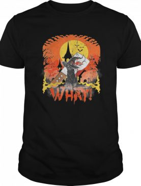 Black Cat With Knife What Halloween Cat Lover shirt