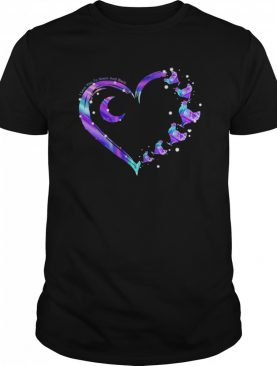 Chicken I Love To The Moon And Back Colorful Heart shirt