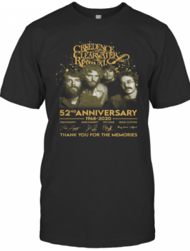 Creedence Clearwater Revival 52Nd Anniversary 1968 2020 Signature T-Shirt